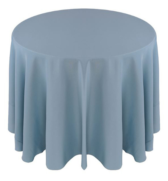 Solid Polyester Tablecloth Linen-Slate