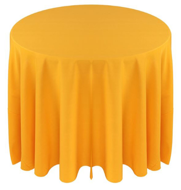 Solid Polyester Tablecloth Linen-Sunflower