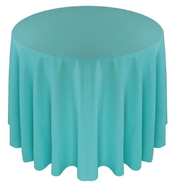 Solid Polyester Tablecloth Linen-Tiffany Blue