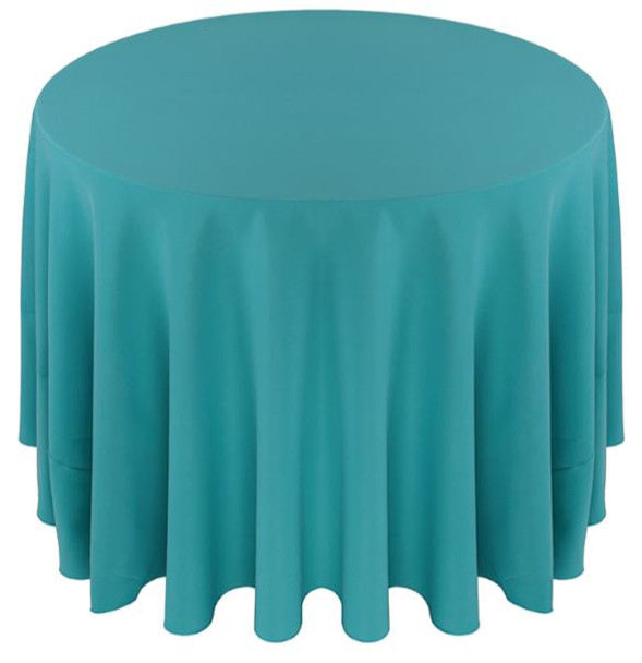 ... Solid Polyester Tablecloth Linen Turquoise ...