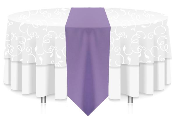 Solid Polyester Table Runner Linen-Amethyst