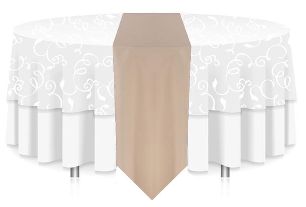 Solid Polyester Table Runner Linen-Beige