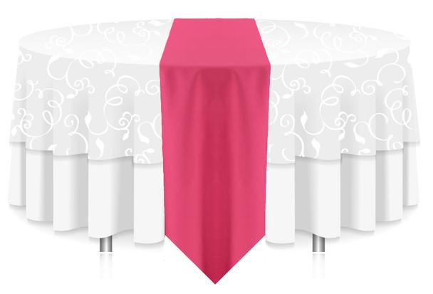 Solid Polyester Table Runner Linen-Bubblegum
