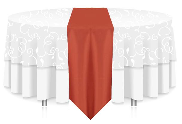Solid Polyester Table Runner Linen-Burnt Orange