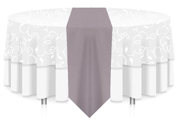 Solid Polyester Table Runner Linen-Gray
