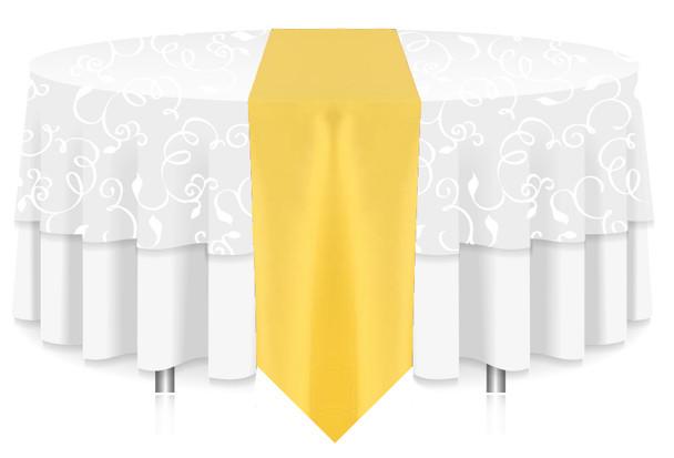 Solid Polyester Table Runner Linen-Lemon