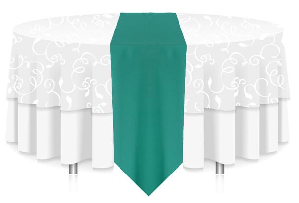 Solid Polyester Table Runner Linen-Jade