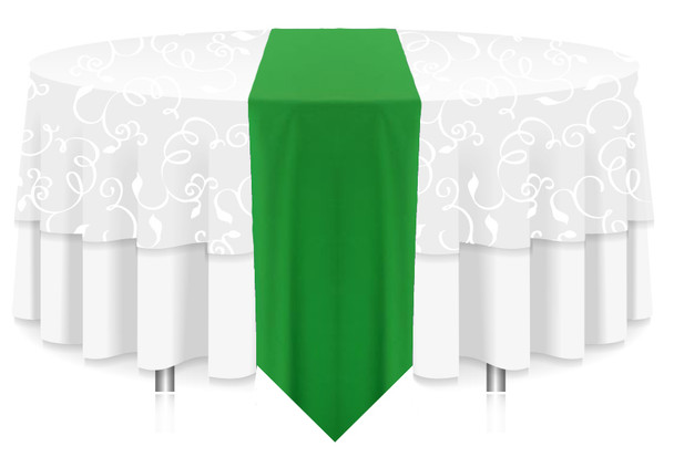 Solid Polyester Table Runner Linen-Kelly