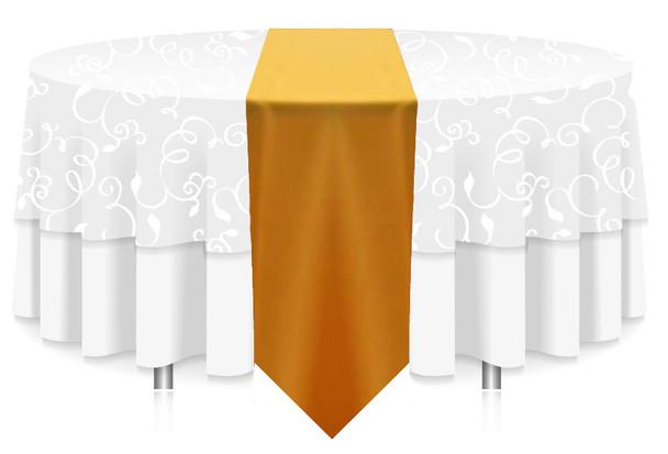Solid Polyester Table Runner Linen-Golden Rod