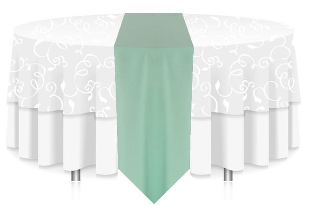 Solid Polyester Table Runner Linen-Pistachio
