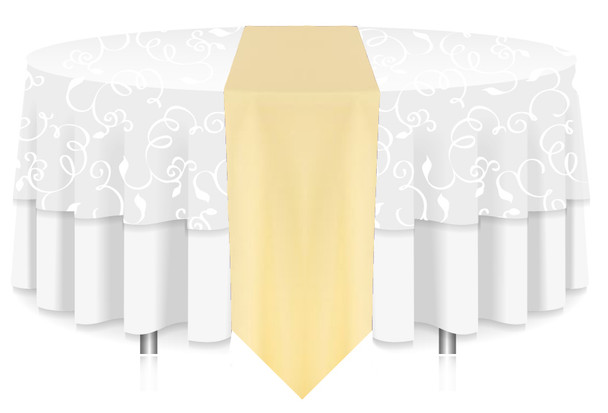 Solid Polyester Table Runner Linen-Maize