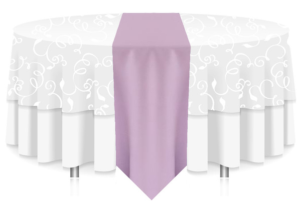 Solid Polyester Table Runner Linen-Iilac