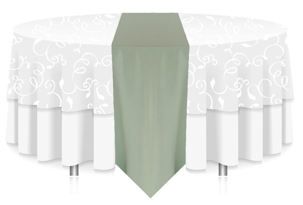 Solid Polyester Table Runner Linen-Seafoam