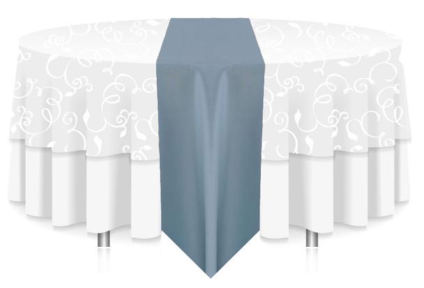 Solid Polyester Table Runner Linen-Slate