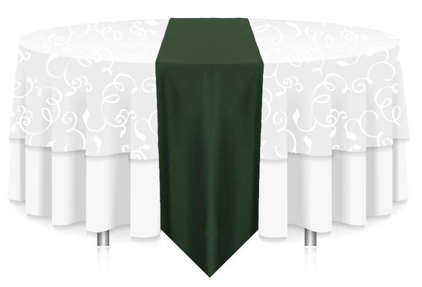 Solid Polyester Table Runner Linen-Moss