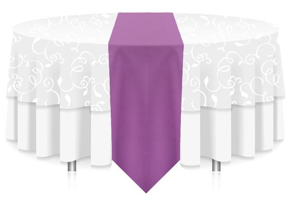 Solid Polyester Table Runner Linen-Violet