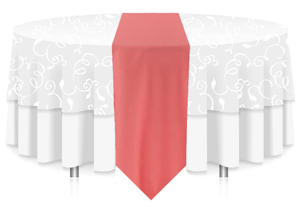 Solid Polyester Table Runner Linen-Watermelon