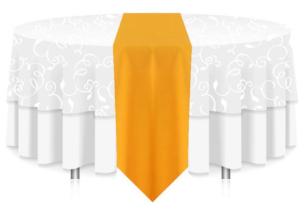 Solid Polyester Table Runner Linen-Sunflower