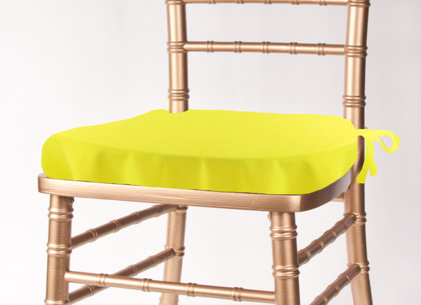 Solid Polyester Seat Cushion Cover-Neon Yellow