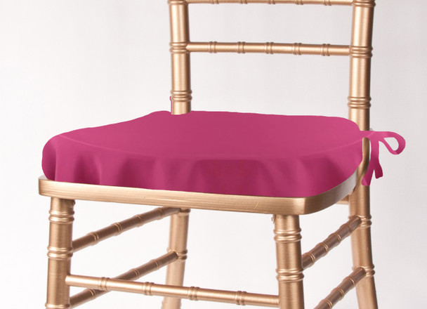 Solid Polyester Seat Cushion Cover-Raspberry