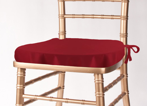 Solid Polyester Seat Cushion Cover-Cherry Red