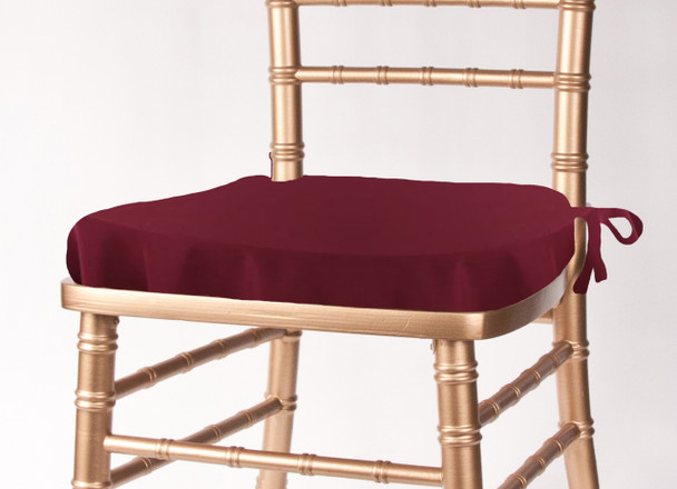 Solid Polyester Seat Cushion Cover-Burgundy