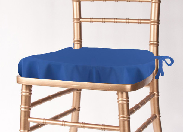 Solid Polyester Seat Cushion Cover-Royal