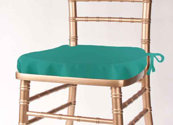 Solid Polyester Seat Cushion Cover-Jade
