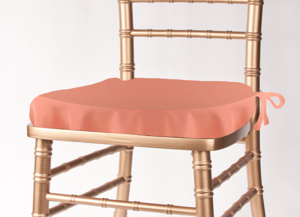 Solid Polyester Seat Cushion Cover-Coral