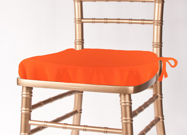 Solid Polyester Seat Cushion Cover-Neon Orange