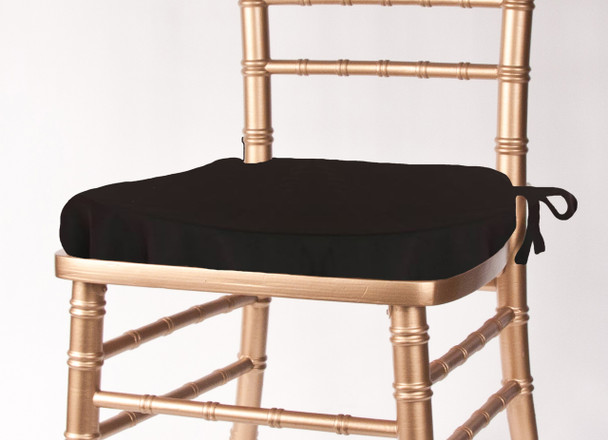 Solid Polyester Seat Cushion Cover-Black
