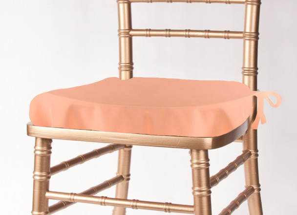 Solid Polyester Seat Cushion Cover-Peach