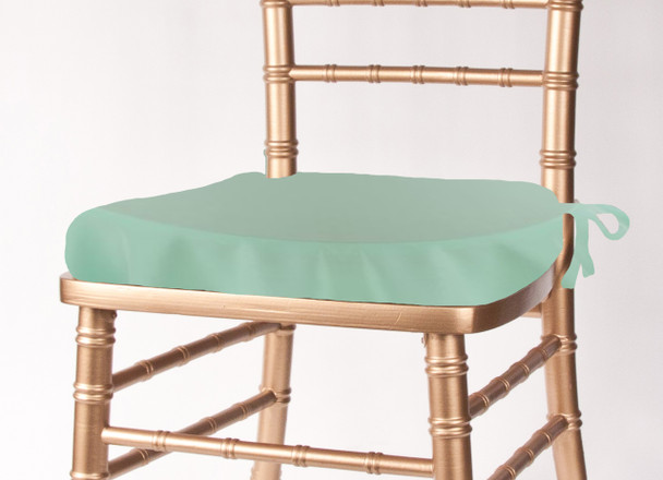 Solid Polyester Seat Cushion Cover-Pistachio