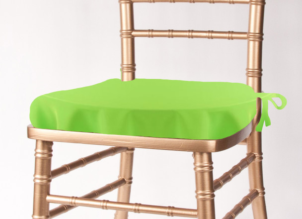 Solid Polyester Seat Cushion Cover-Neon Green