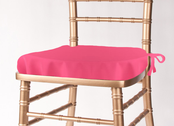 Solid Polyester Seat Cushion Cover-Neon Pink