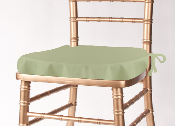 Solid Polyester Seat Cushion Cover-Celadon