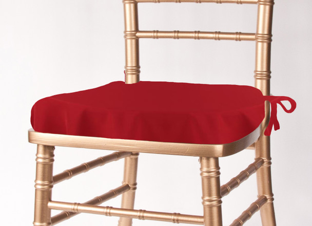 Solid Polyester Seat Cushion Cover-Red