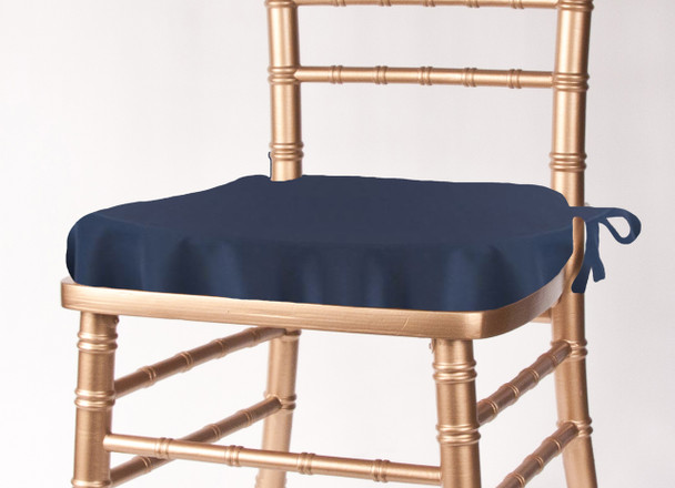 Solid Polyester Seat Cushion Cover-Navy