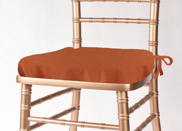 Solid Polyester Seat Cushion Cover-Copper