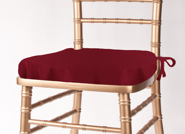 Solid Polyester Seat Cushion Cover-Ruby