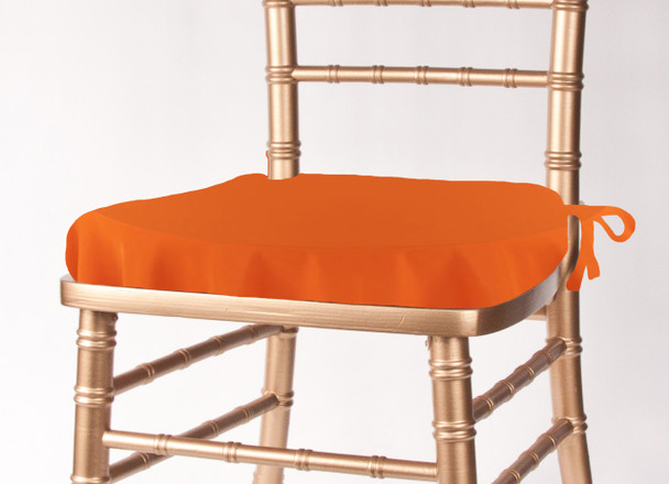 Solid Polyester Seat Cushion Cover-Pumpkin