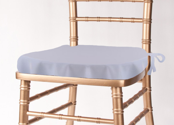 Solid Polyester Seat Cushion Cover-Light Blue