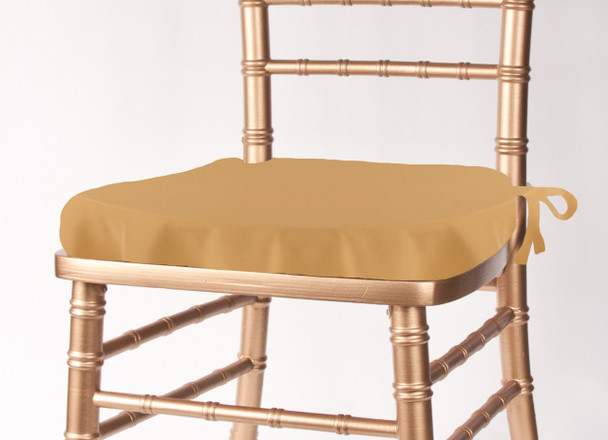 Solid Polyester Seat Cushion Cover-Camel