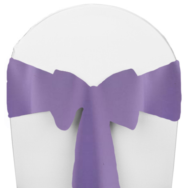 Solid Polyester Chair Sash-Amethyst