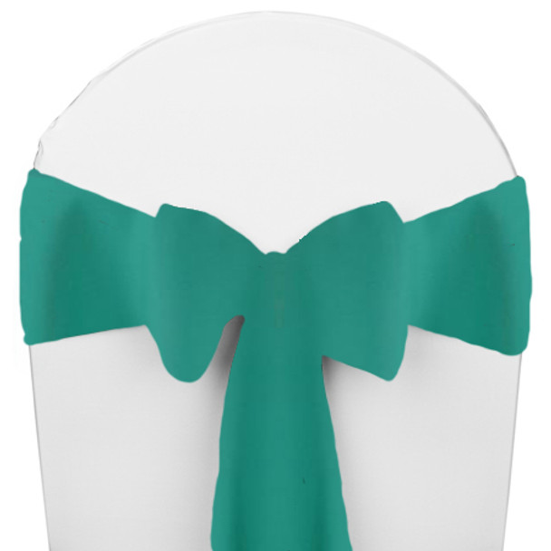 Solid Polyester Chair Sash-Jade