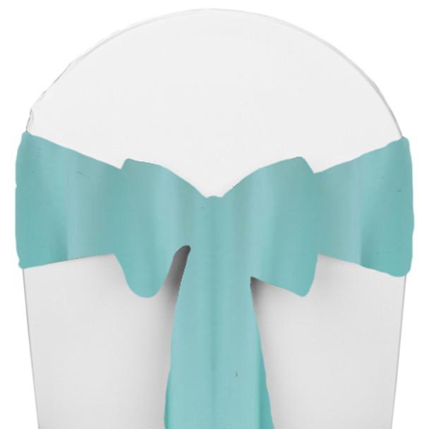Solid Polyester Chair Sash-Aqua