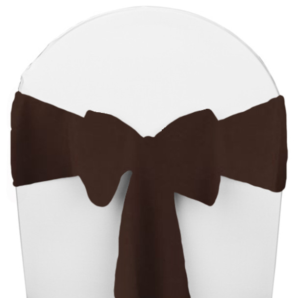 Solid Polyester Chair Sash-Brown
