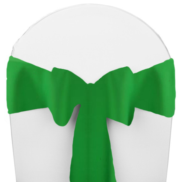 Solid Polyester Chair Sash-Kelly