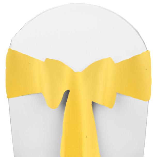 Solid Polyester Chair Sash-Lemon