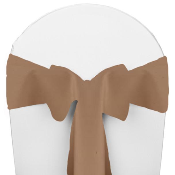 Solid Polyester Chair Sash-Khaki